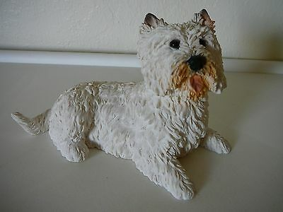 Cute 1988 Castagna Cairn Terrier Dog Figure-Made In Italy