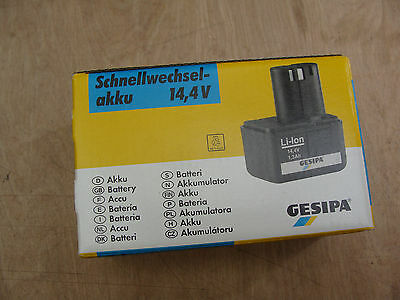 Gesipa   14.4v Li-ion  1.3ah battery 7251045  NEW !!!