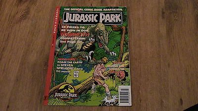 Original Jurassic Park Comic Book Adaptation. 1993 Mint.