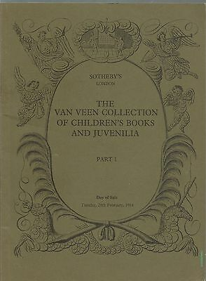 Sotheby's The Van Veen Collection of Childrens' Books and Juvenilia Part 1 1984