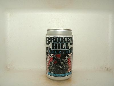 BROKEN HILL LAGER 330ml EMPTY BEER CAN SILVER