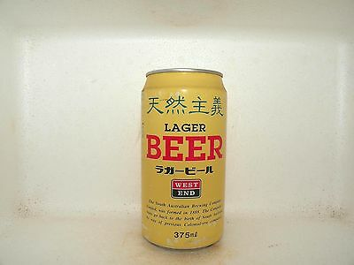 LAGER BEER WEST END LOGO 375ml EMPTY BEER CAN