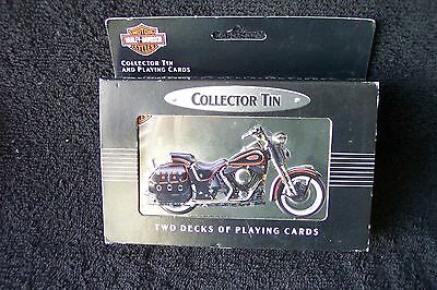 Harley Davidson limited edition playing cards in collector tin From 1998 New New