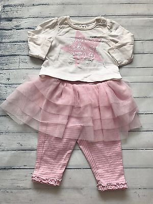 Baby Girls Clothes 0-3 Months - Pretty Top & Tutu Leggings Outfit -