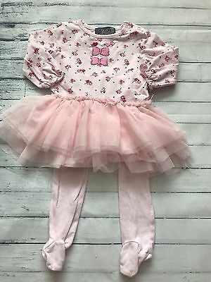 Baby Girls Clothes 0-3 Months - Pretty Tutu  Top & Leggings Outfit -