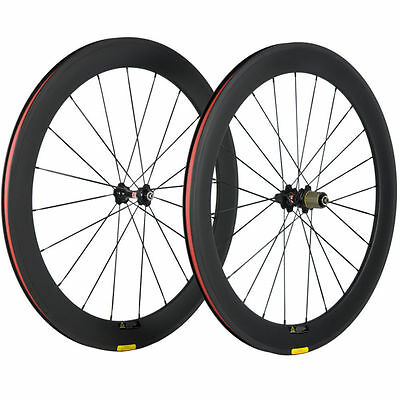 Novatec 271 Hub 60mm Clincher Carbon Wheelset Road Bike/Bicycle Wheels UD Matte