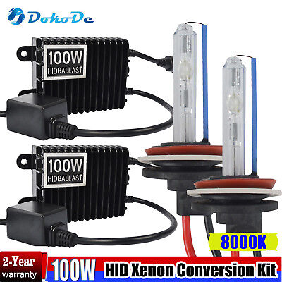 Dokode HID Xenon Headlight Conversion Kit H1 100w 8000K (Globes and Ballasts) AU