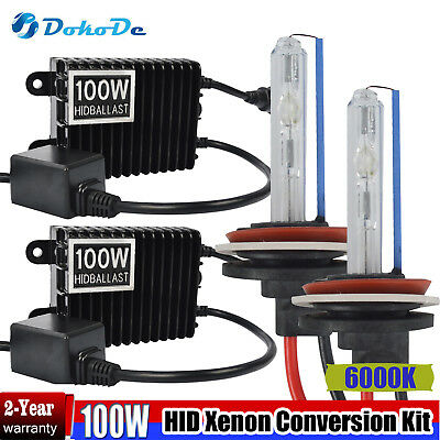 Dokode HID Xenon Headlight Conversion Kit H1 100w 6000K (Globes and Ballasts) AU