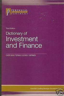 DICTIONARY OF FINANCE AND INVESTMENT pb 3rd edition