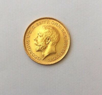 1915 George V Gold Half Sovereign Sydney mint