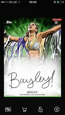 Topps WWE Slam Bayley LIVE Signature AUTO 2017 DIGITAL Card