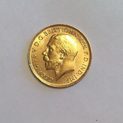 Gold 1913 George V Half Sovereign