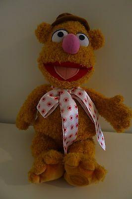 "Disney Store Large 16"" Fozzie Bear Muppet Show Plush Soft Toy Fozzy"