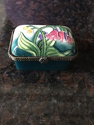 Old Tuptonware Porcelain Trinket Box - Lily Of The Valley