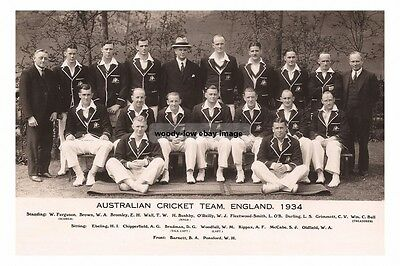 rp16430 - Australian Cricket Team , England , 1934 - photograph