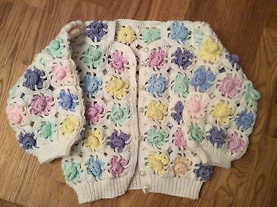 Girl's Crocheted Daisy Cardigan