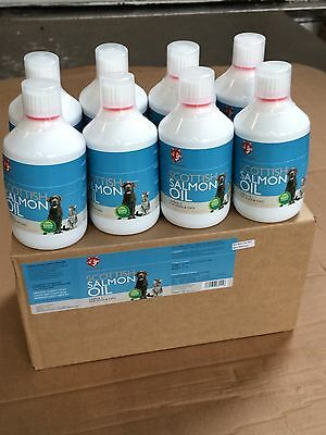 FULL CASE OF 8 x 500ml Healthy Hounds Scottish Salmon oil for dogs Omega 3