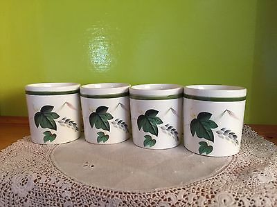"""4 Lovely Vintage English Palissy """"Shadow Rose""""  EGG CUPS"""