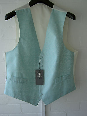 men's pale green waistcoat from marks and spencer size LARGE chest 41-43 new