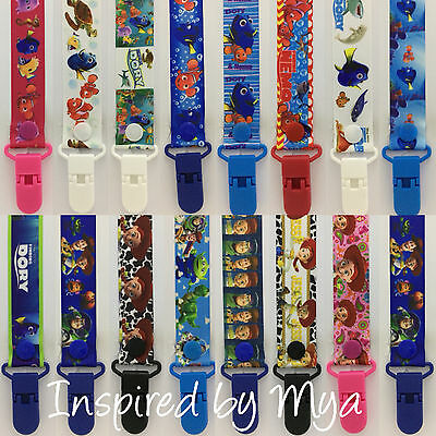 Dummy clip pacifier chain dummie binky baby soother teether nemo dory toy story