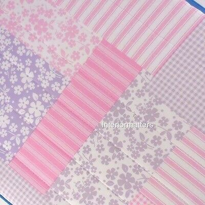 Kids HAYLEY Serendipity Full Queen QUILT SET floral gingham Pink Lavender NEW