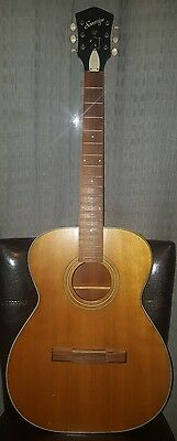Vintage Harmony Sovereign Acoustic Guitar Model H1203 Made in USA #6544