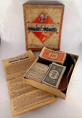 Vintage Monopoly-Manufactured In Australia By John Sands Pty. Ltd.-Not Complete.
