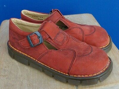 womens shoes DR martens DOC's DM's red leather sandals UK 1