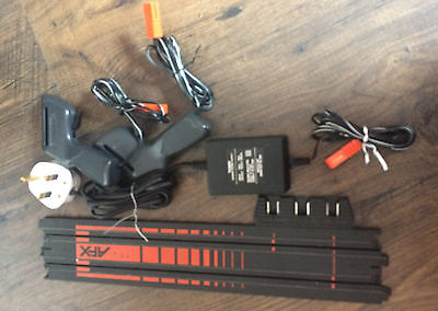 "Tomy AFX Aurora connector 15"" straight track with 2 controllers and power supply"