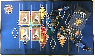 Pokemon Oceania Championship DOUBLE Colorless STAFF + TOP8 Promo Cards + Playmat