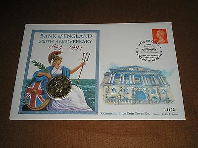 """1994 GB Stamps £2 TWO POUNDS """"Bank of England"""" COIN COVER - LONDON EC2 Cancel"""