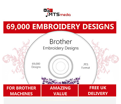 Massive 69,000 Brother Embroidery Design Collection with Viewer Software