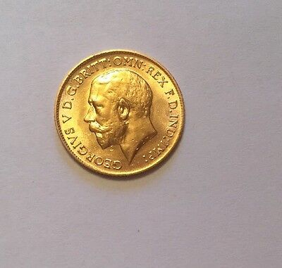 1914 George V Gold Half Sovereign