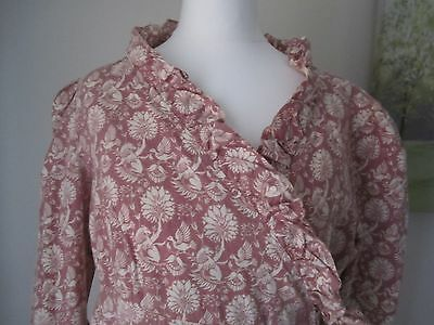 Laura Ashley vintage dress in a Regency tea-gown style. Size 14. Made in Wales.
