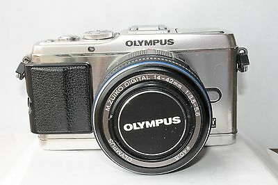 Olympus Pen E-P3 Silver Camera With Olympus 14-42Mm Kit Lens