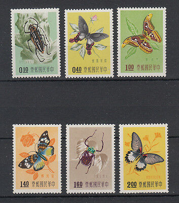 CHINA: TAIWAN 1958 Insects set of 6 perfect stamps.SG274/279. MUH/MNH