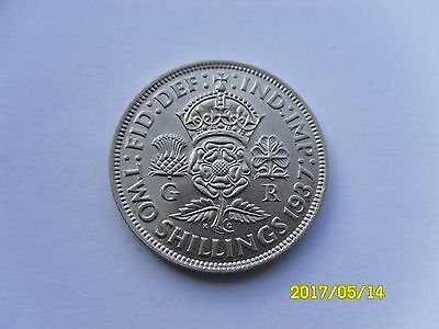 George Vi Silver Florin/two Shillings 1937