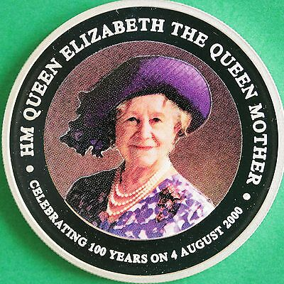 2000 Cook Islands Queen Mother 1oz Silver Coloured Proof