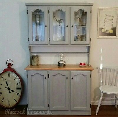 Newly Refinished Vintage French Provincial Kitchen Buffet and Hutch Dresser