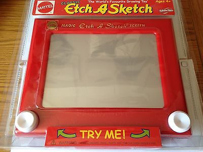 Mattel Classic Etch A Sketch Magic Screen Drawing Toy, 2004. New & Sealed