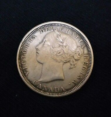 1858 Canada 20 Cents. Au. Rare! No Reserve. Same Day Shipping.