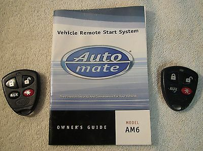 Pair of Auto Mate Remote Start Fobs #474V & Booklet