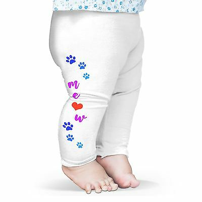 Twisted Envy Meow Cat Paw Prints Baby Funny Leggings Trousers