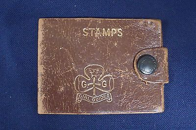 Early Girl Guides Leather Stamp case / wallet