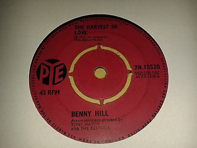 "Benny Hill -  ""The Harvest Of Love""   7"" (1963) VG+  / ""BAMba 3688"" / 7N 15520"