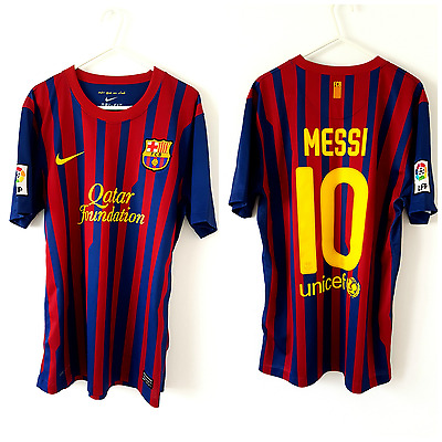 Barcelona MESSI Home Shirt 2011. Medium. Nike. Red Adults M Football Top Only.