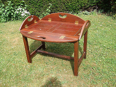 Vintage Butlers Tray With Stand Original Style Folding Edge