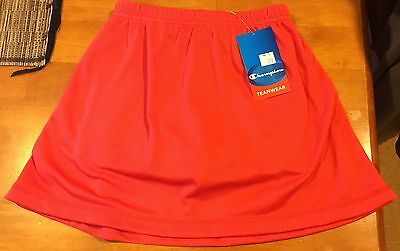 Champion TeamWear Sports Skort, Short, Skirt, Red Size 12C ~ Brand New with Tags