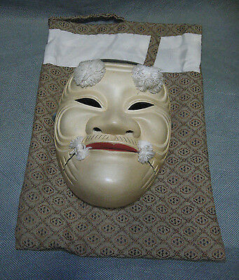 SALE! Real Japanese Noh Mask Old Man Father Longevity Symbol made in Showa Era