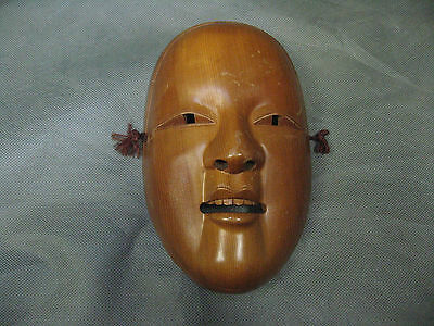 SALE! Real Japanese Noh Mask Ko-omote Young Woman's Face Head made in Showa Era